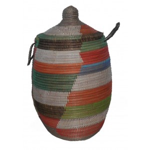 Grand panier Thies Africain a linge multicolor