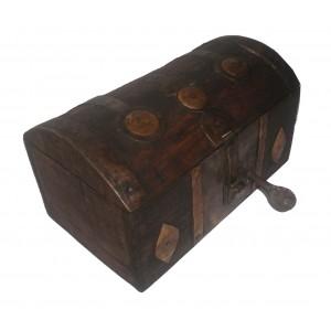 Coffre Africain Touareg bois fer et bronze