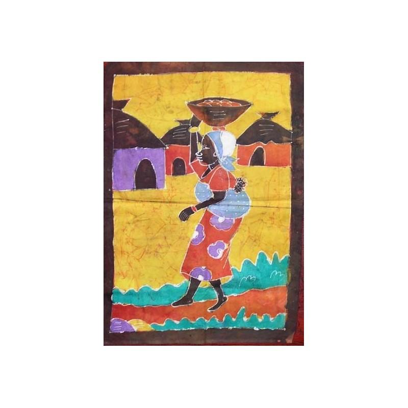 Batik de Cote d'Ivoire taille 2 femme au village