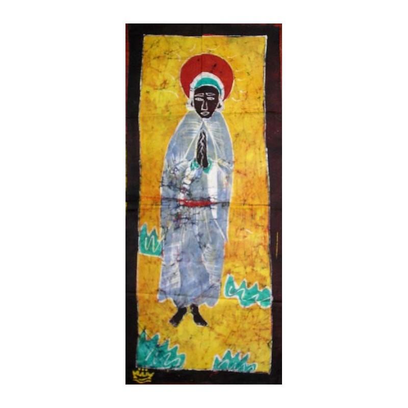 Batik de Cote d'Ivoire bande taille 2 femme sainte