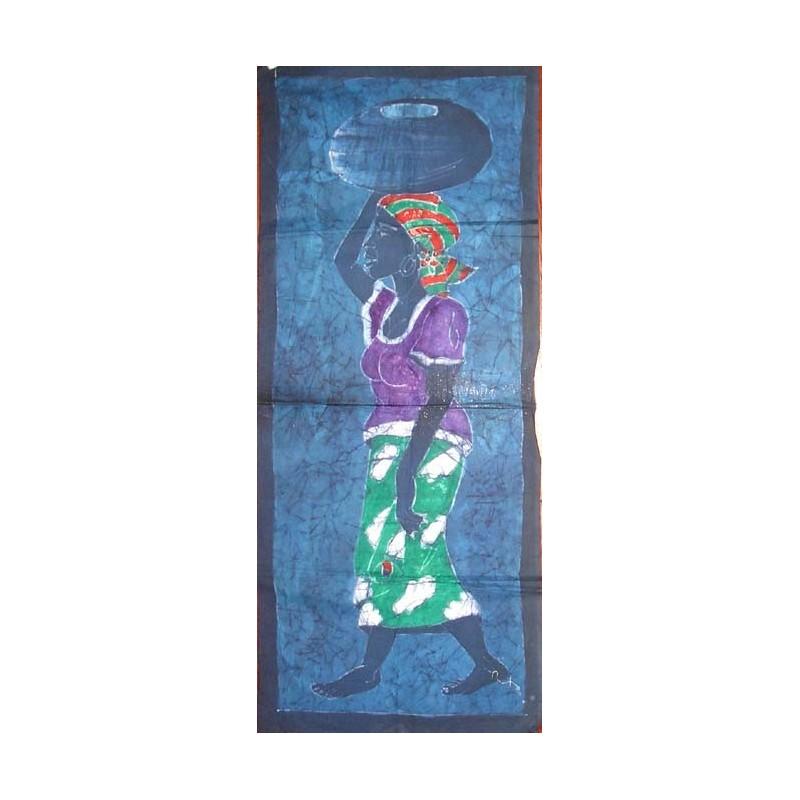 Batik de Cote d'Ivoire bande taille 2 porteuse