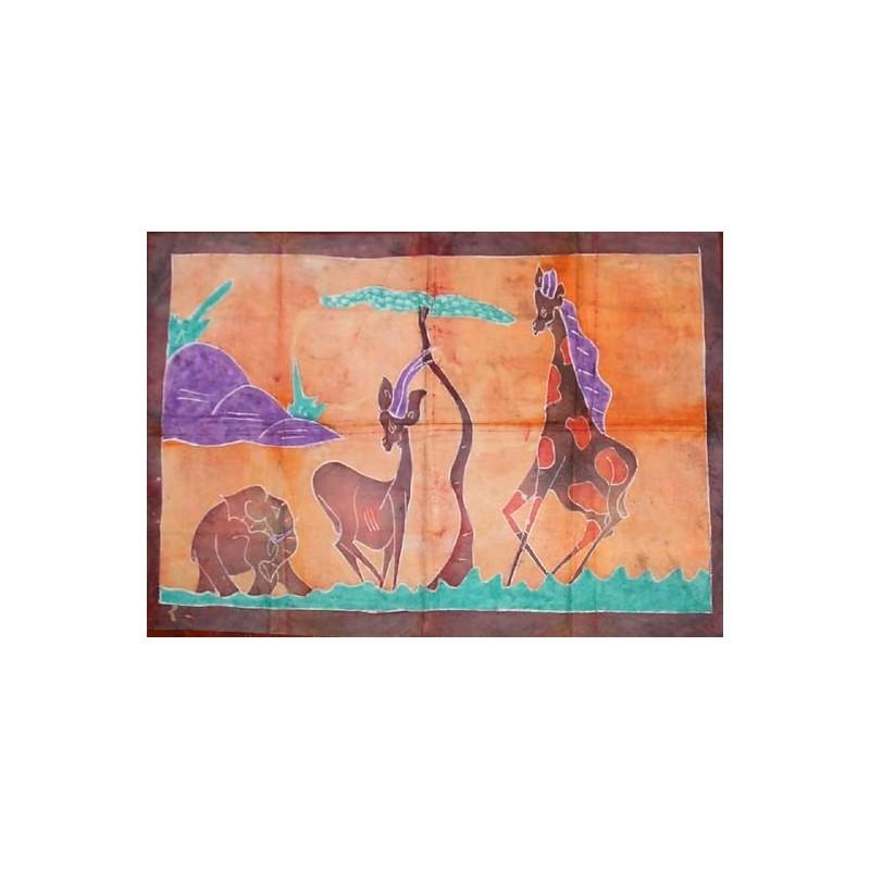 Batik de Cote d'Ivoire taille 4 femmes au village
