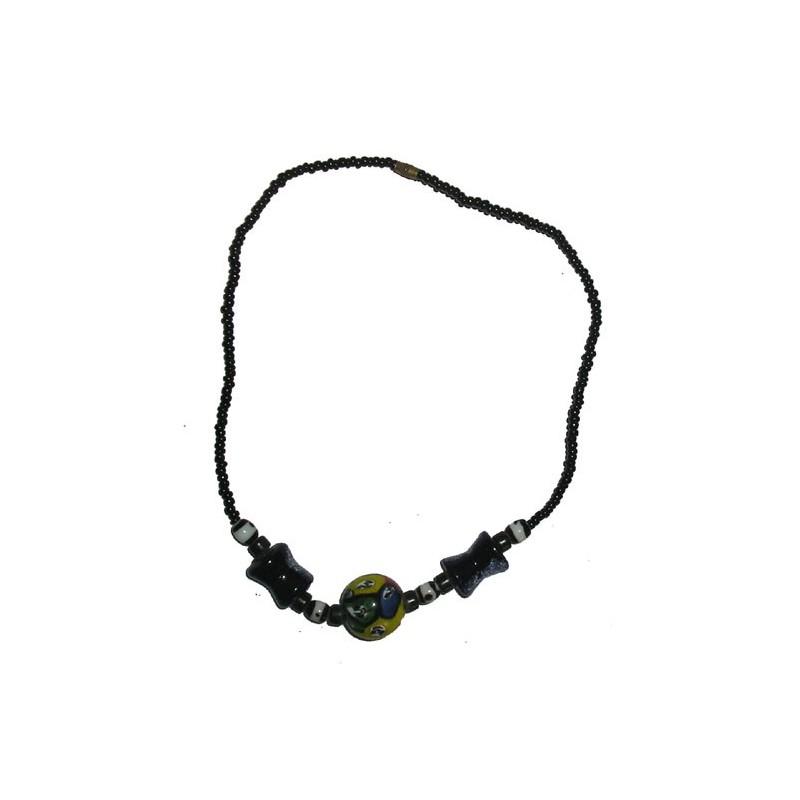 Collier ras du cou pate de verre de Gorée