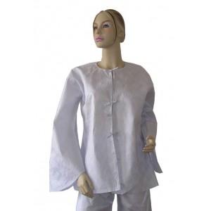 Veste femme d'été légère en coton bazin blanc