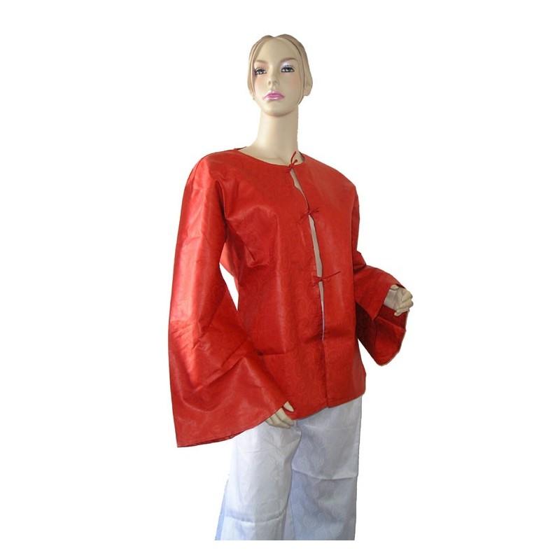 Veste femme d'été légère en coton bazin orange