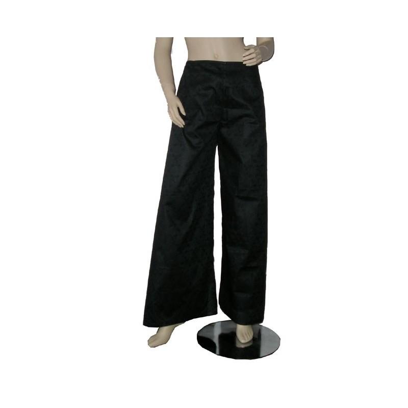 Pantalon Touareg sarouel en coton bazin noir