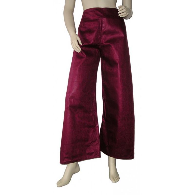 Pantalon Touareg sarouel en coton bazin bordeaux