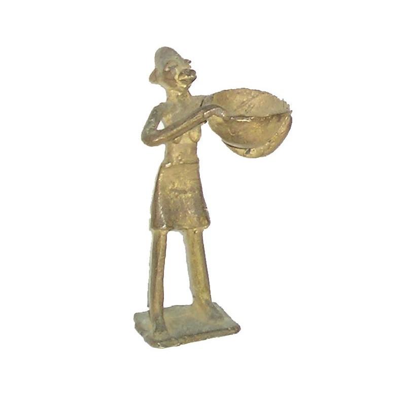 Poids Akan à peser l'or en forme de personnage