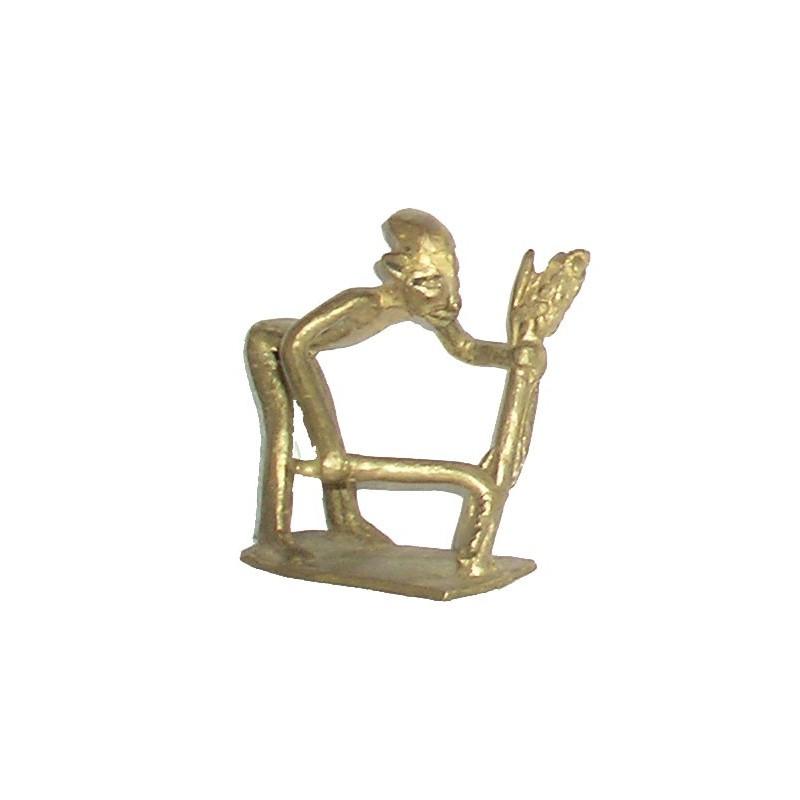 Poids Akan à peser l'or le moissonneur