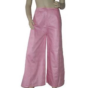 Pantalon Touareg sarouel en coton bazin rose