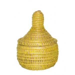 Panier Africain à épice jaune