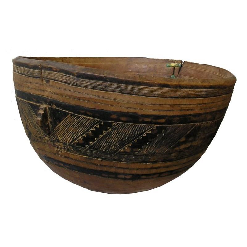 ANCIENNE GRANDE CALEBASSE A LAIT PEULH DU SAHEL