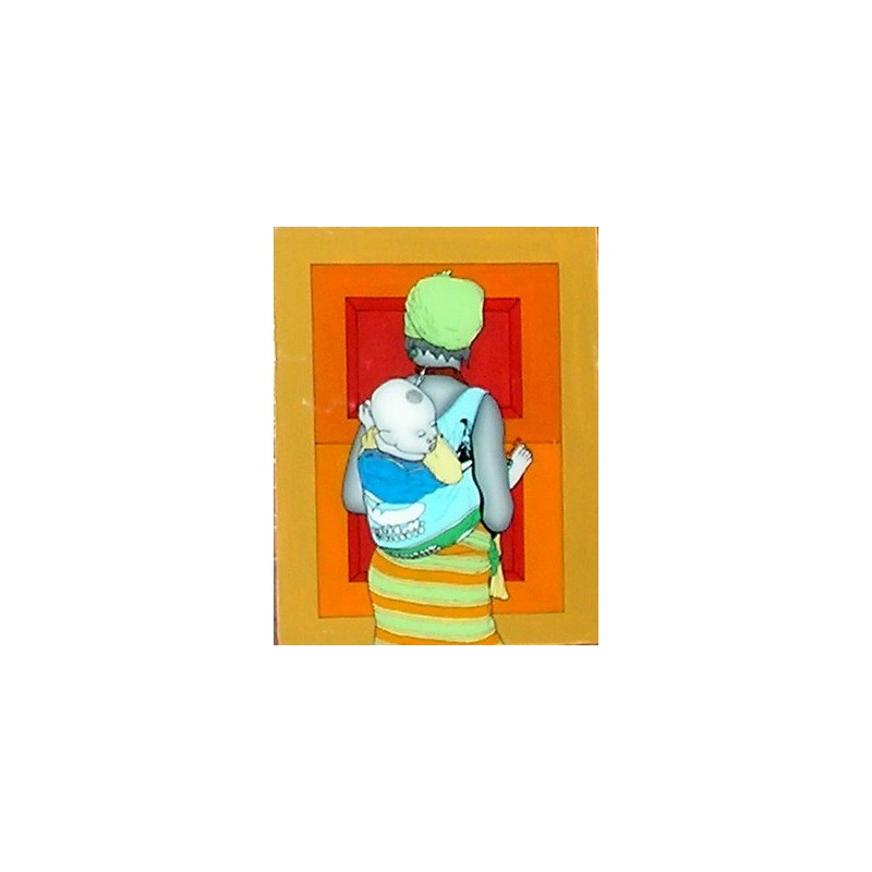 tableau sous verre fantaisie du senegal art afrique. Black Bedroom Furniture Sets. Home Design Ideas