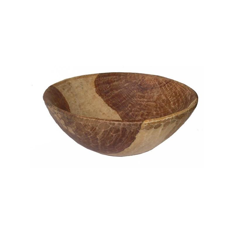 Calebasse saladier en bois Lenké du Sénégal