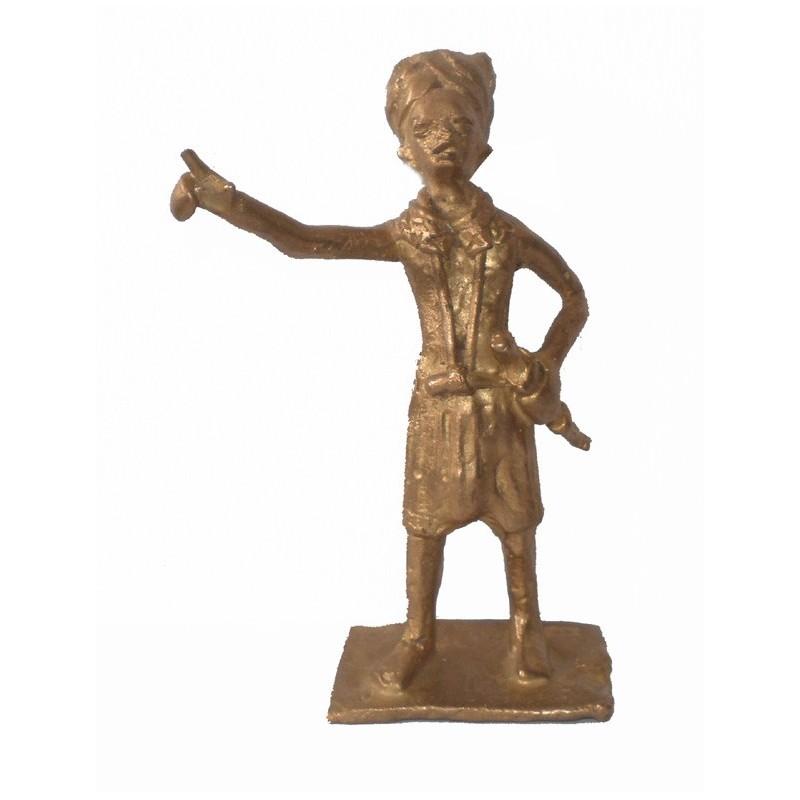 Guerrier Mandingue en bronze
