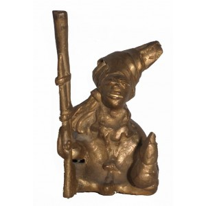 Guerrier Mandingue assis en bronze