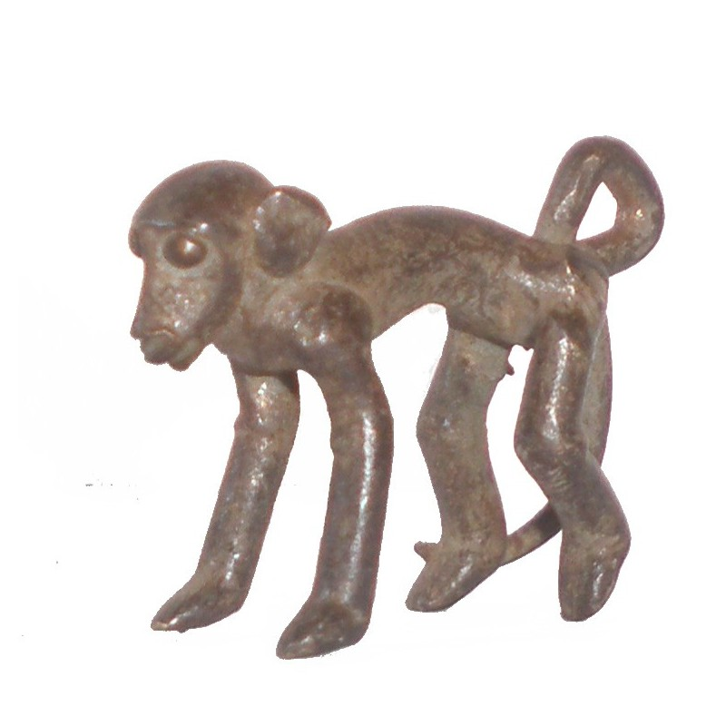 Poids pendentif Akan à peser l'or le singe