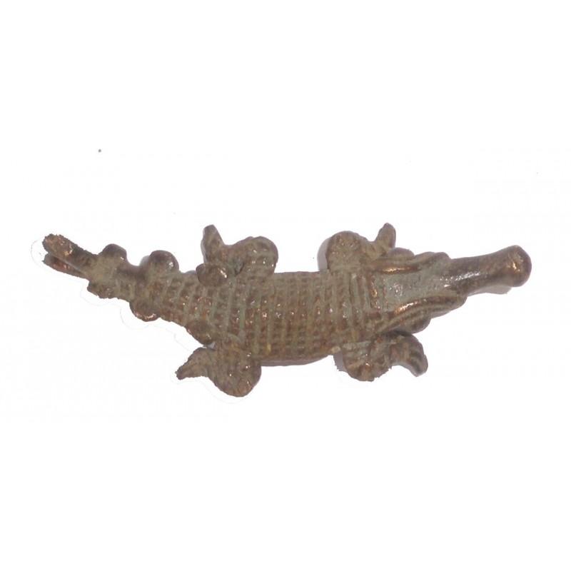 Poids pendentif Akan à peser l'or le crocodile