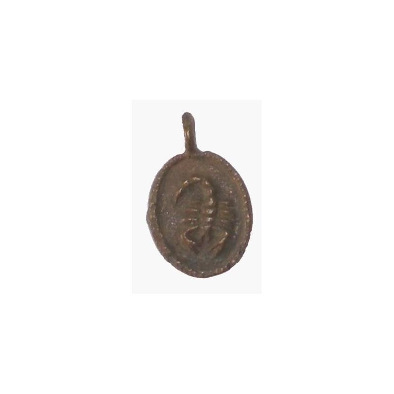 Poids Akan pendentif medaille à peser l'or scorpion