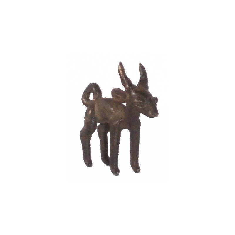 Poids pendentif Akan à peser l'or antilope ou gazelle