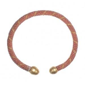 Bracelet Africain alliage cuivre laiton et fer