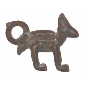Poids pendentif Akan à peser l'or le renard