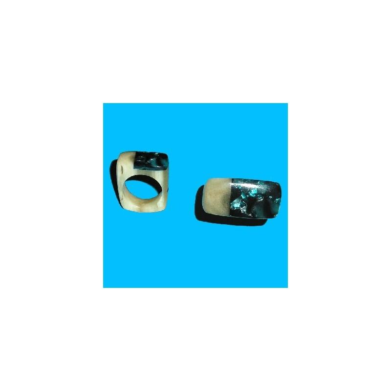 Bague plexi et lapiz-lazuli